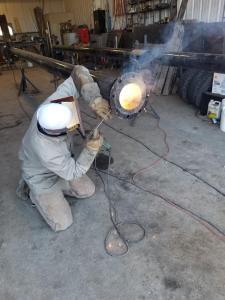Metal Fabrication at Welding Shop