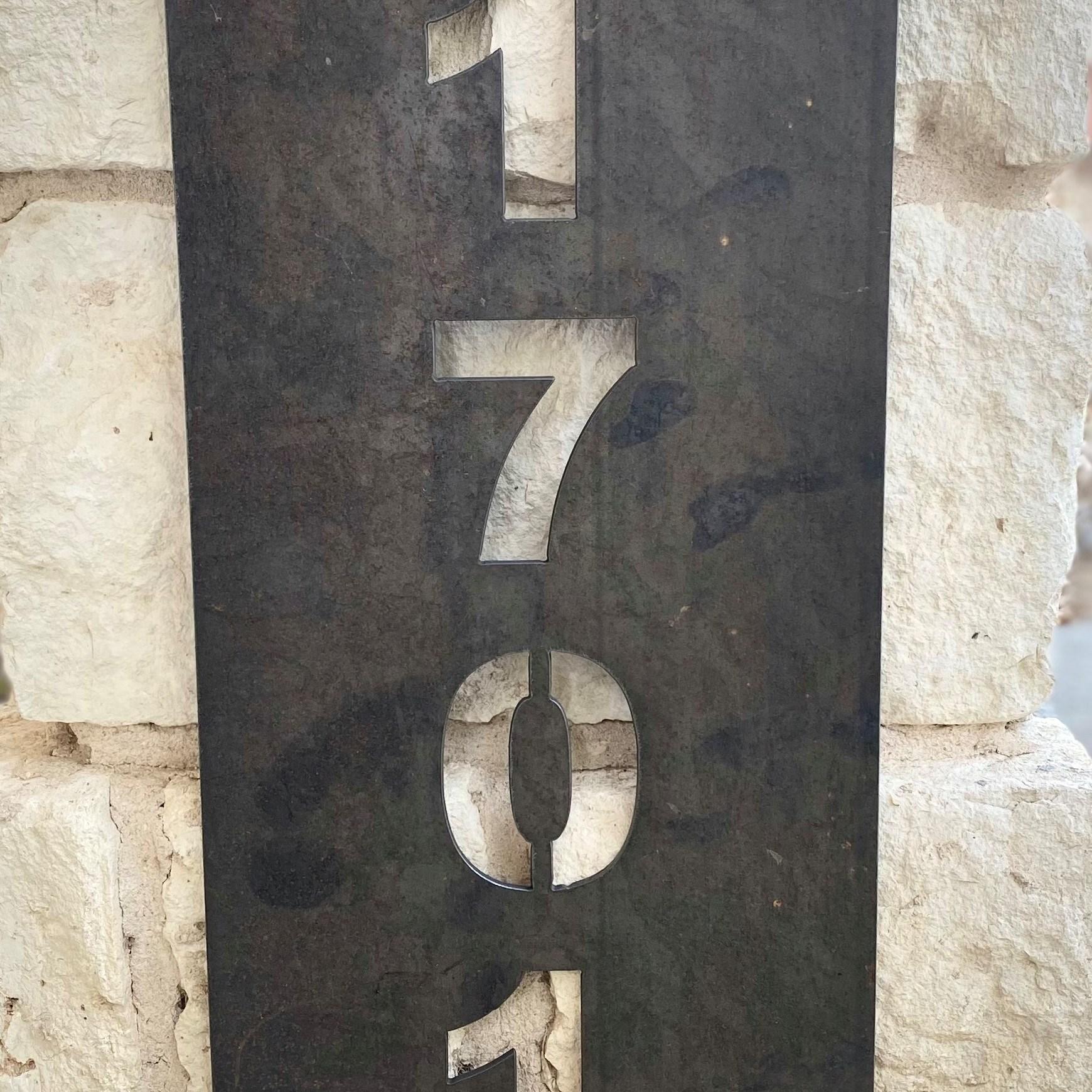 Custom metal address plates, Welding Shop Austin, Texas kyle@weldingaustin.com