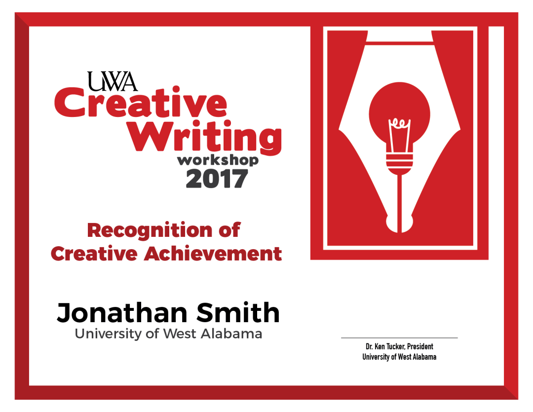 Creative Writing Certificate-01
