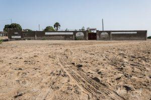 Abandoned wrestling arena in Senegal