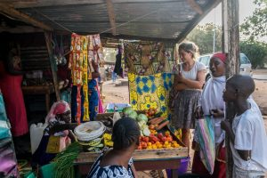 Local fruit market in Gambia