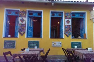 Colourful restaurant in Lencois
