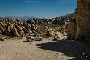 Rental car on the Ruta 40 in North Argentina