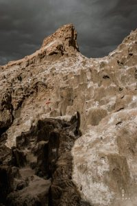Dark clouds in Valle de la Luna