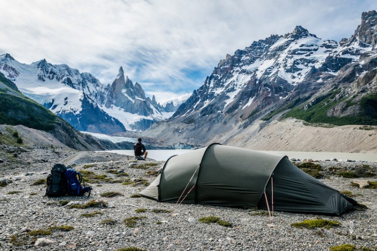Hilleberg Nallo 3GT with views on Cerro Torre