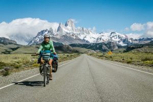 WeLeaf cyclists leaving el Chalten