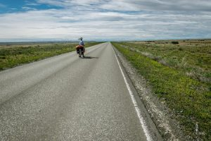 Watching the endless long roads in Patagonia