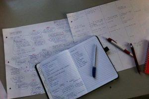 Brainstorm paper on the floor
