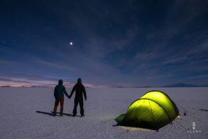 camping on Salar de Uyuni