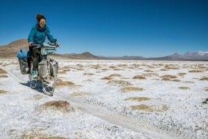 Cycling on salt flats