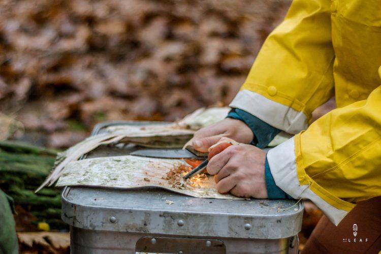 vuur maken met firesteel