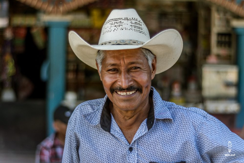 local with traditional hat in Guatemala