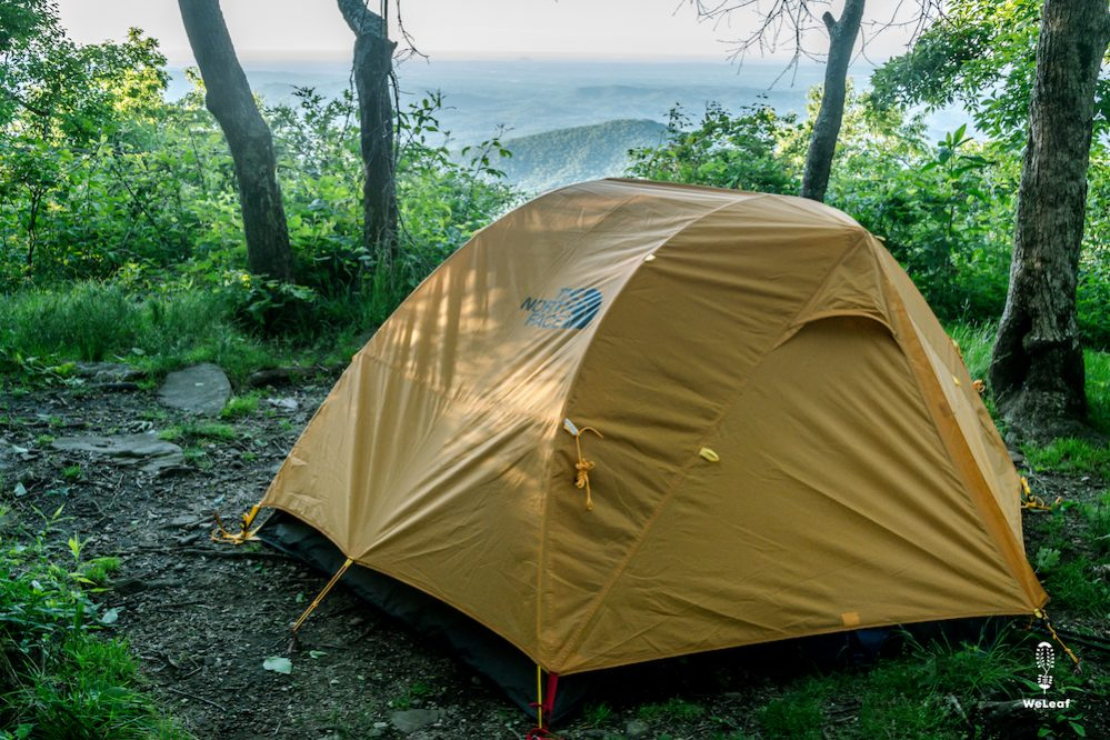 the north face talus 2 tent set up