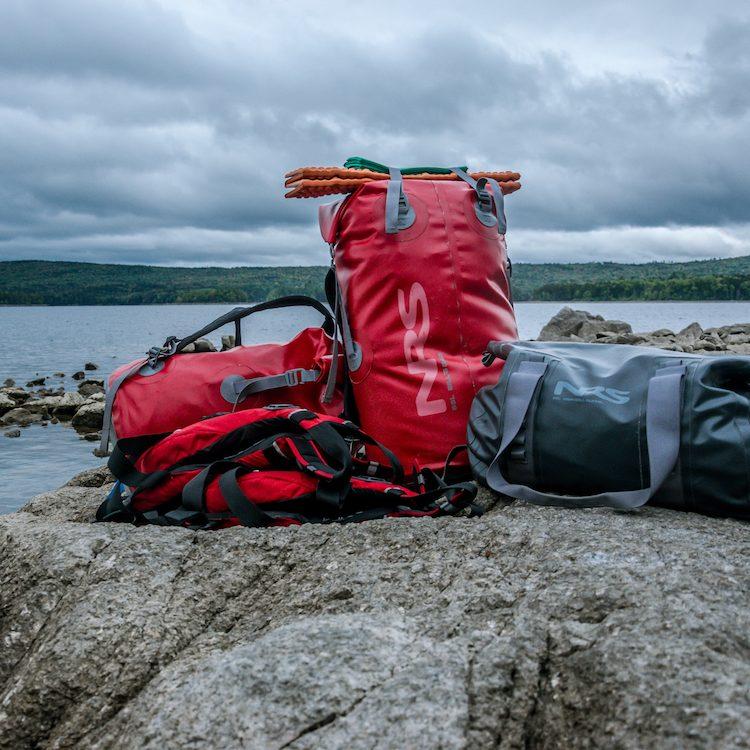 duffel bags for a canoe trip