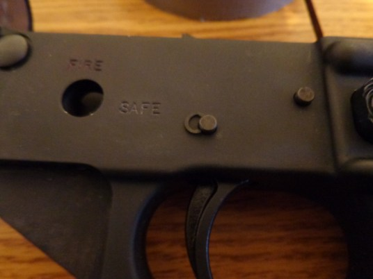 The pins are driven back through the trigger group and receiver. The pins are over sized and will require a few firm taps with a brass or plastic mallet.