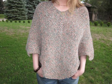 Now that's better (no more invisible arms)!  This chenille poncho is a reminder to me of what can happen when you don't give up too soon.