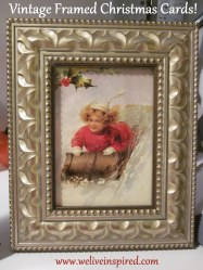 Vintage Christmas Cards Framed