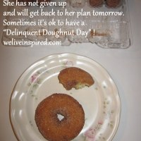 """A Delinquent Doughnut Day-Five Minute Friday """"Dive"""""""