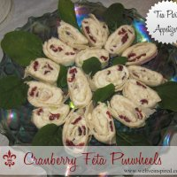 Tea Party Appetizers-Cranberry Feta Pinwheels