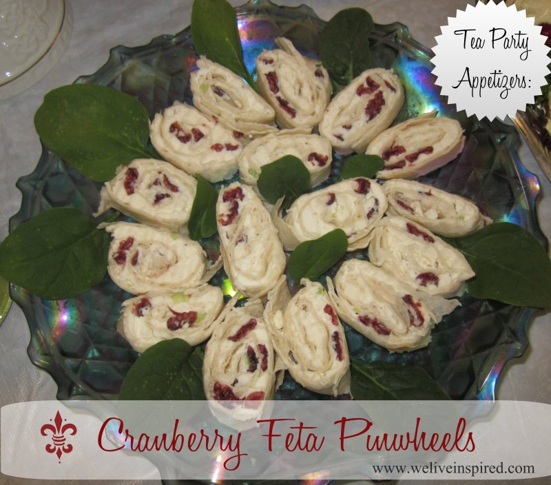 Cranberry and Cheese Pinwheels