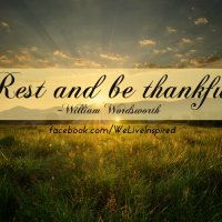 Rest & Be Thankful-Inspirational Labor Day Word Art