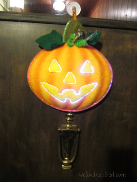 halloween fiber optic door decor