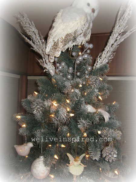 snowy owl Christmas tree topper2