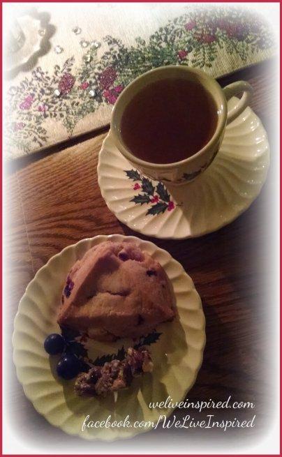 Christmas tea and scones