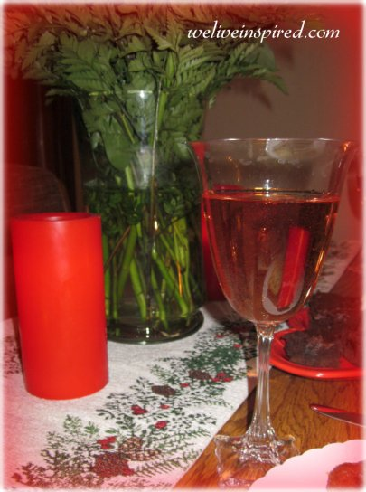 rose wine in a goblet