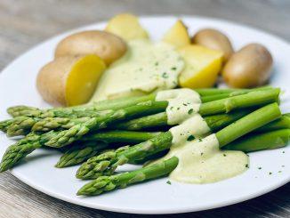 Vegane Sauce Hollandaise gesund Rezept zu Spargel Brokkoli