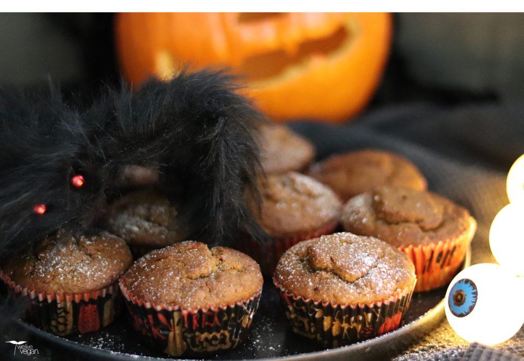 Kürbismuffins als süßer veganer Snack zu Halloween