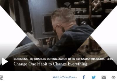 Verander een gewoonte om alles te veranderen