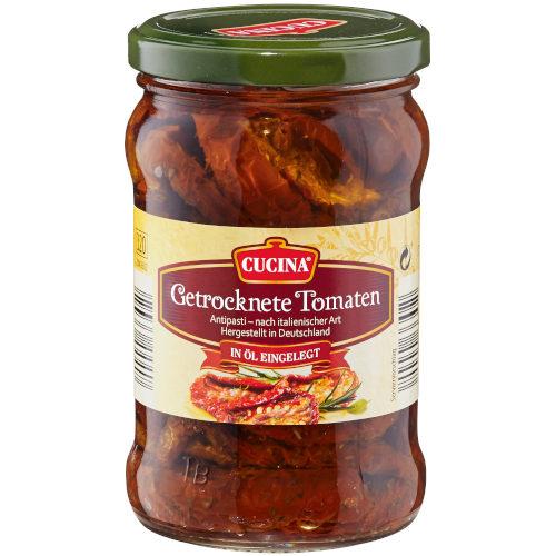 gut im Test von Stiftung Warentest 6/2017: Cucina Getrocknete Tomaten (Aldi Süd)
