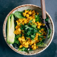 Chickpea Scramble Breakfast Bowl