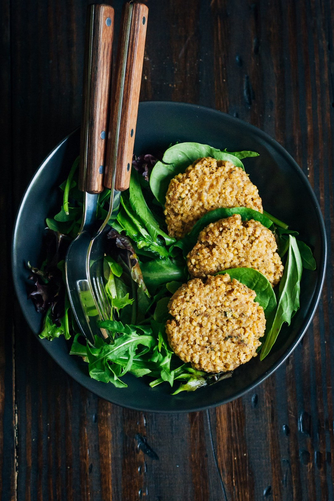 Millet Fritters | Well and Full | #millet #fritters #vegan #recipe