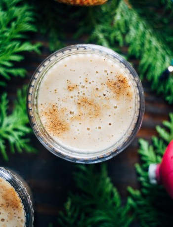 Raw Vegan Eggnog | Well and Full