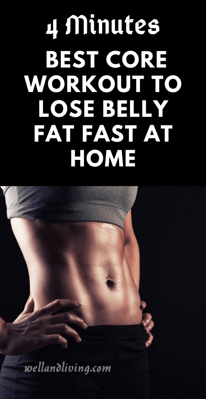 4 Minutes Best Core Workout to Lose Belly Fat Fast At Home