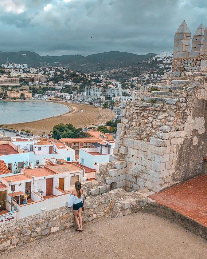 Woman Overlooking From Spanish Castle
