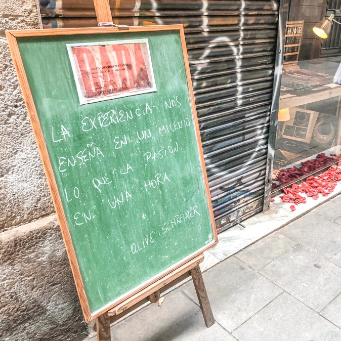 Inspirational Sign in Barcelona