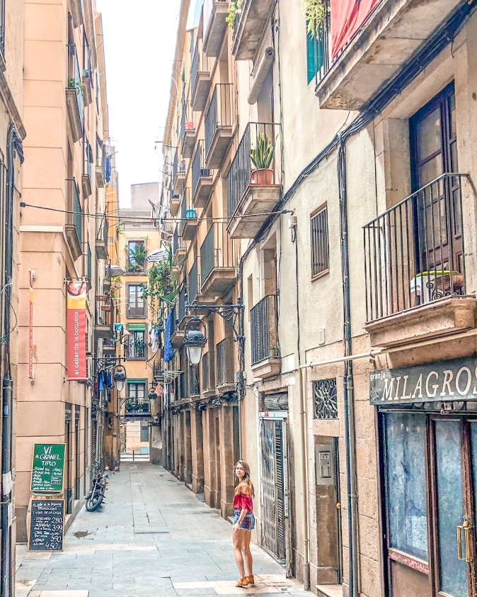 Hidden Alley in Barcelona