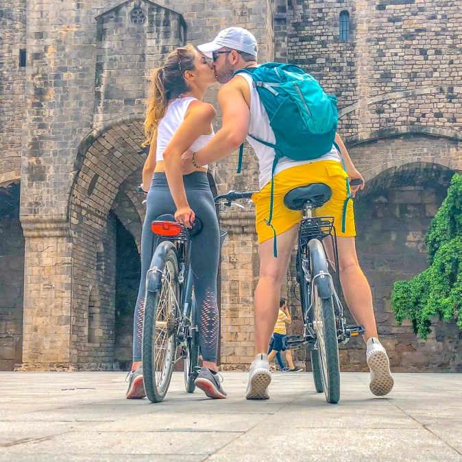 Couple Kissing in Barcelona