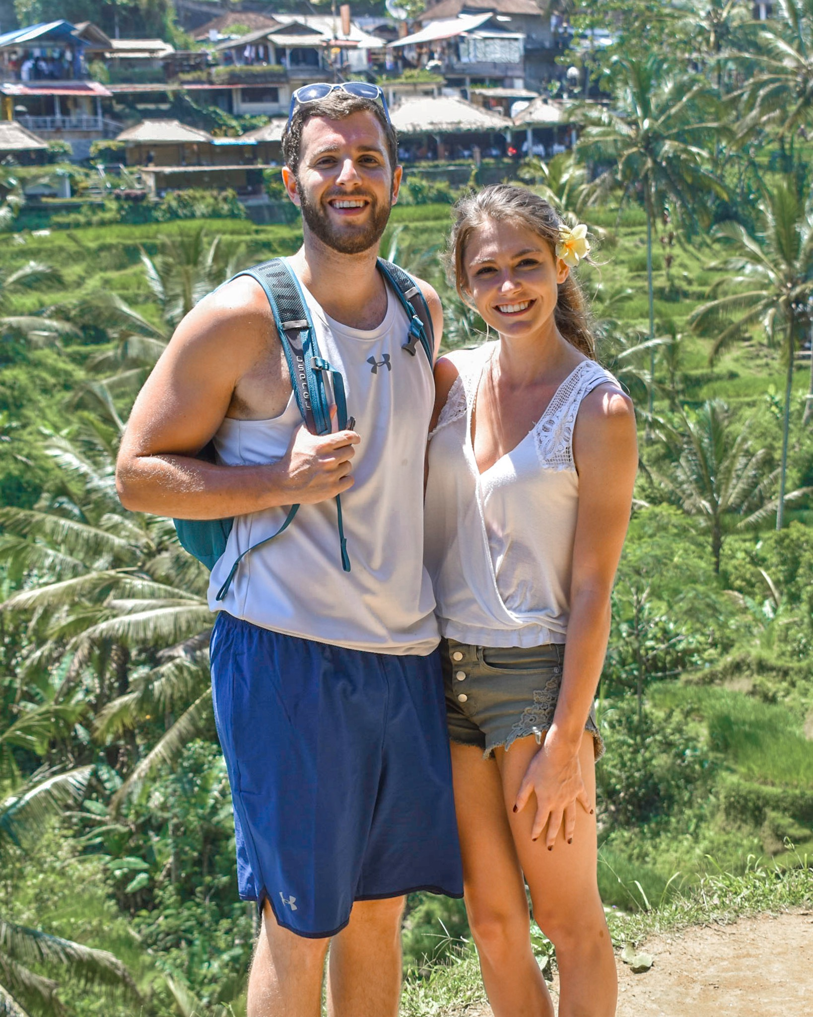 Honeymooners at the Rice Terraces in Bali