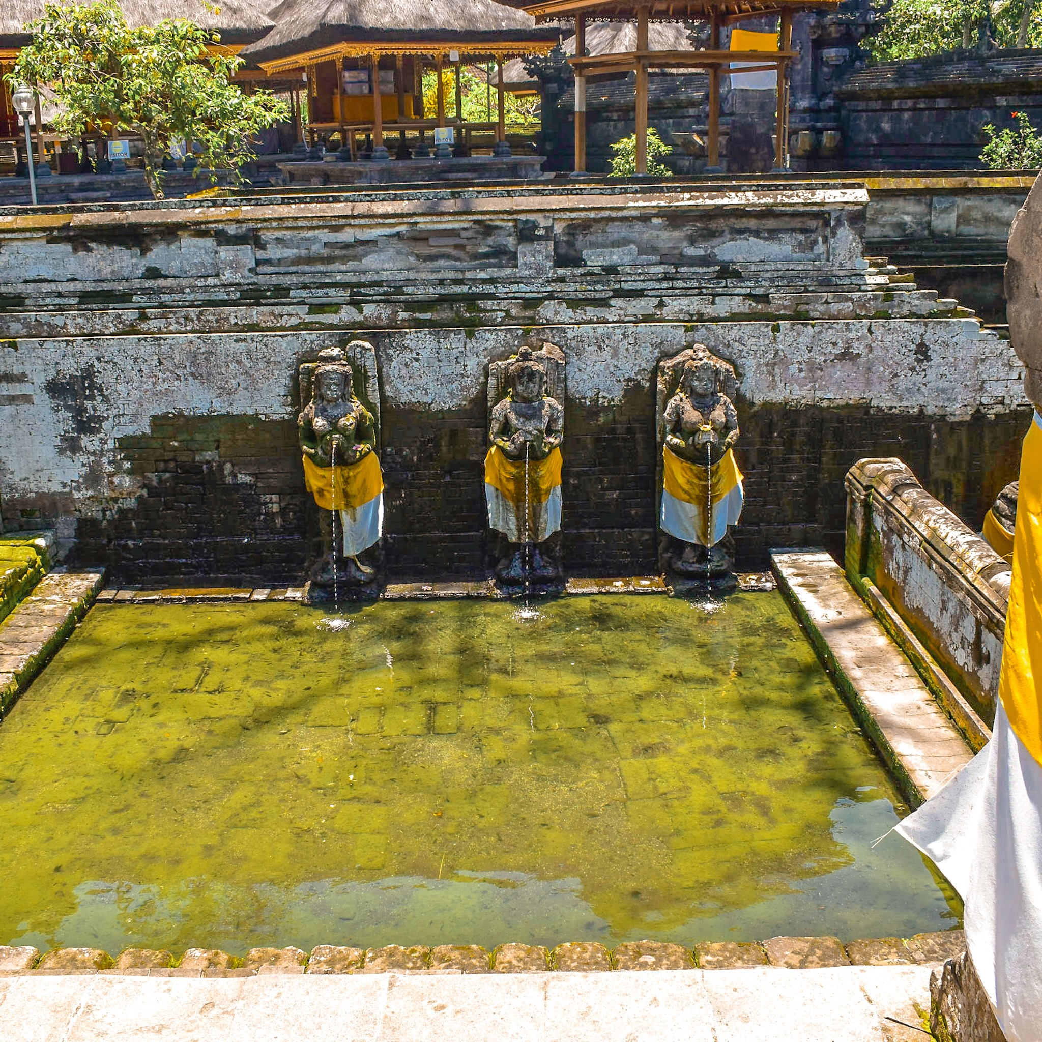 Fountains at Elephant Cave Temples in Bali