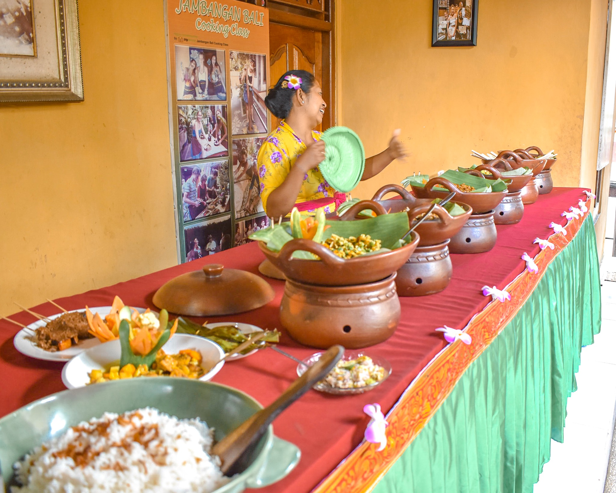 All the Food Made at the Jambangan Bali Cooking Class