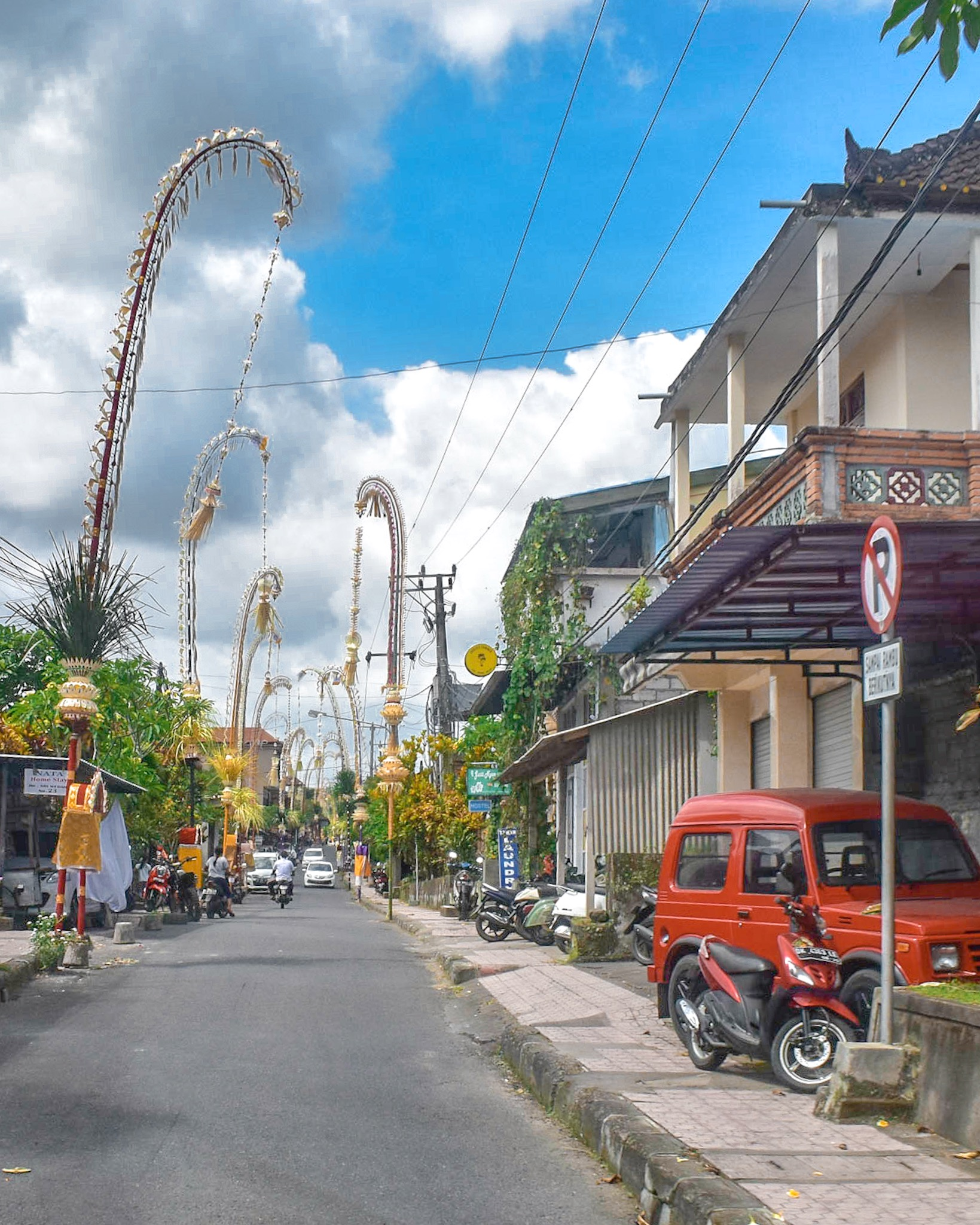 The Streets of Bali on Galungan Day