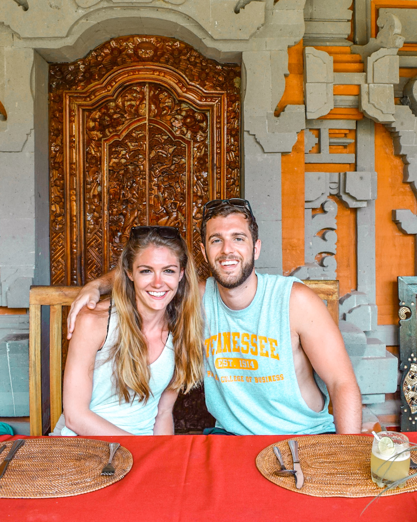 Honeymooners in the Honeymoon Suite of a Traditional Balinese Home