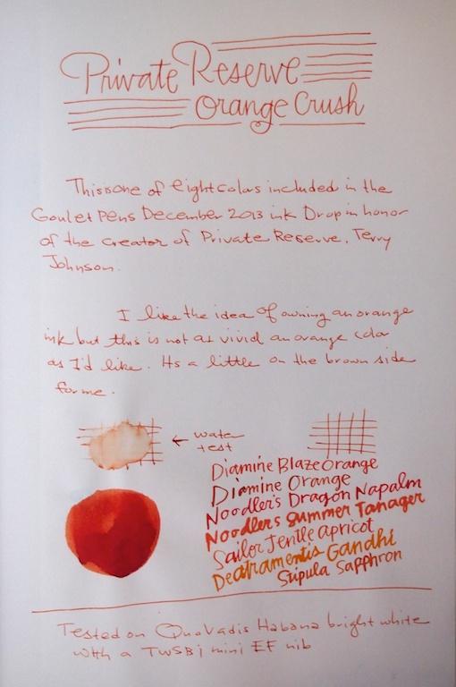 Private Reserve Orange Crush Writing Sample