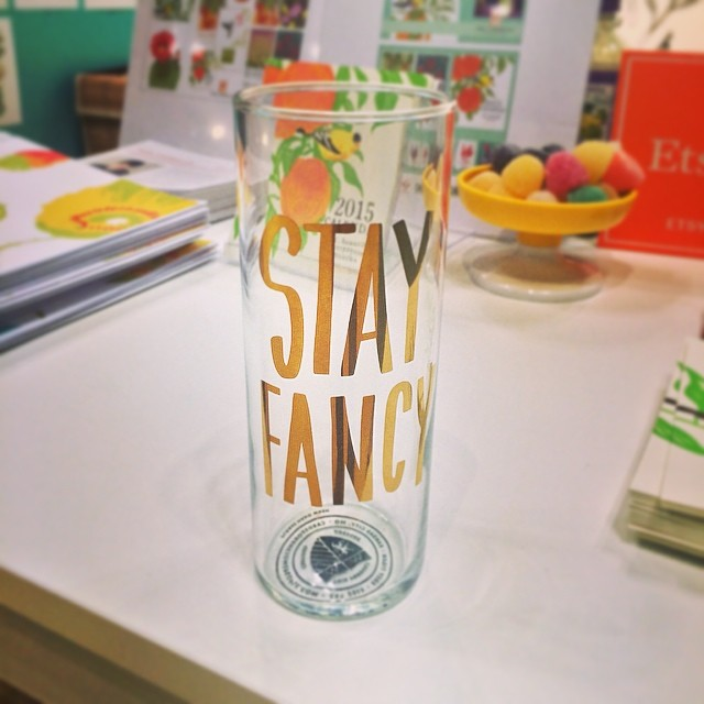 easy Tiger Stay Fancy Soda Glass