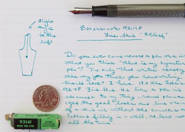 Esterbrook 9314F writing sample