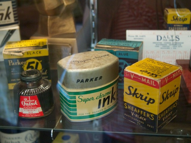 Daly's Pen Shop vintage ink bottles